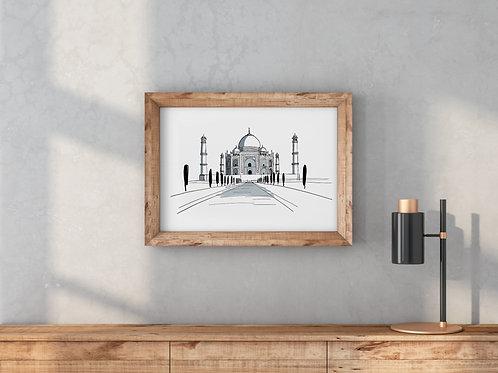 Poster Taj Mahal 40x30