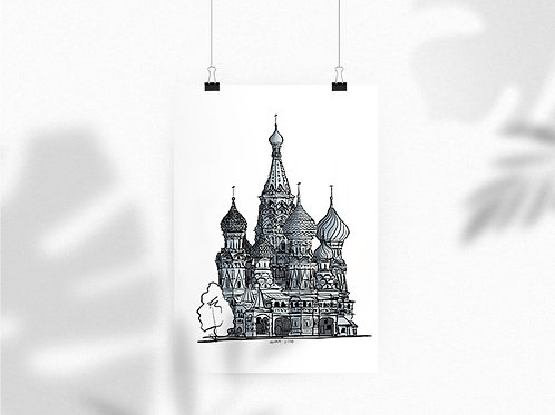 Poster St.Basil Cathedral 40x30