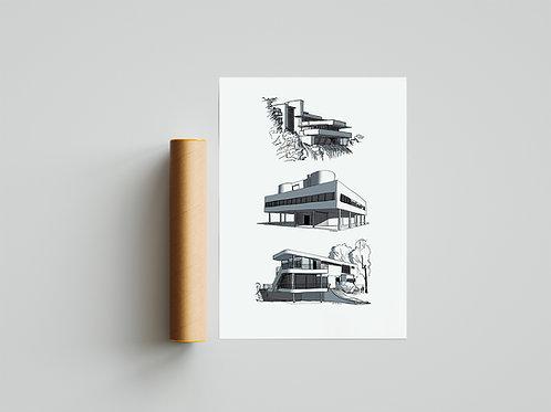 Poster Modern Villas 01 70x50