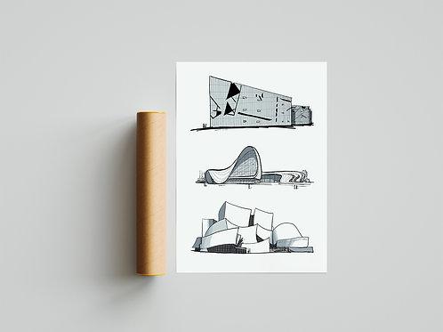 Poster Deconstructivism 70x50