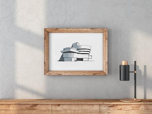 Poster Guggenheim Museum NYC 40x30