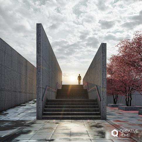 Sevillian concrete stairs