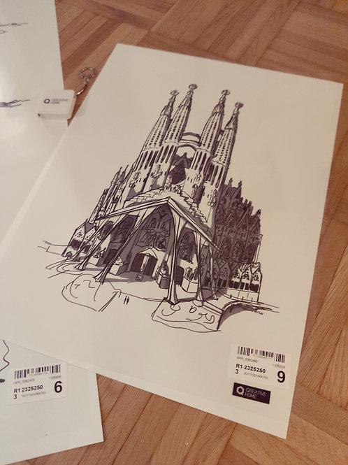 Poster Sagrada Familia 40x30
