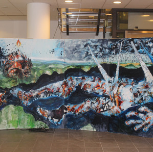     Een Hallucinarium is een ontwikkelingsschilderij.  Een geschilderde film  Spel met de realiteit, reizend door de tijd;  als een fantasiebeeld,  als een droom,  als een visioen.  Een vrijblijvende studie laat zien hoe dat voor  een stad een regio of een andere verbinding uitziet:  06-86446685    