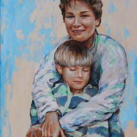 Een Portret maak je niet alleen voor jezelf. Portretten blijven een kleine eeuwigheid het gezicht van een familie. Dat is dus een uitdaging voor mij. En altijd weer spannend om iemand te laten zien in zijn volle potentie.   Hoe doe ik dat:   Eerst maken we foto's. Die ga ik fotoshoppen. Dan kan ik ook nog zaken in het portret weergeven die je meer over de geportretteerde vertellen. Vervolgens kiezen we een voorstelling die beantwoord aan je wensen.   Dan maak ik het schilderij.   Prijzen: Een standaard afmeting, 70 / 80 cm kost 490,- Wil je er een persoon meer op dan kost elke persoon 200 euro extra. Andere afmetingen in overleg.   Ambro Drittty 06-86446685