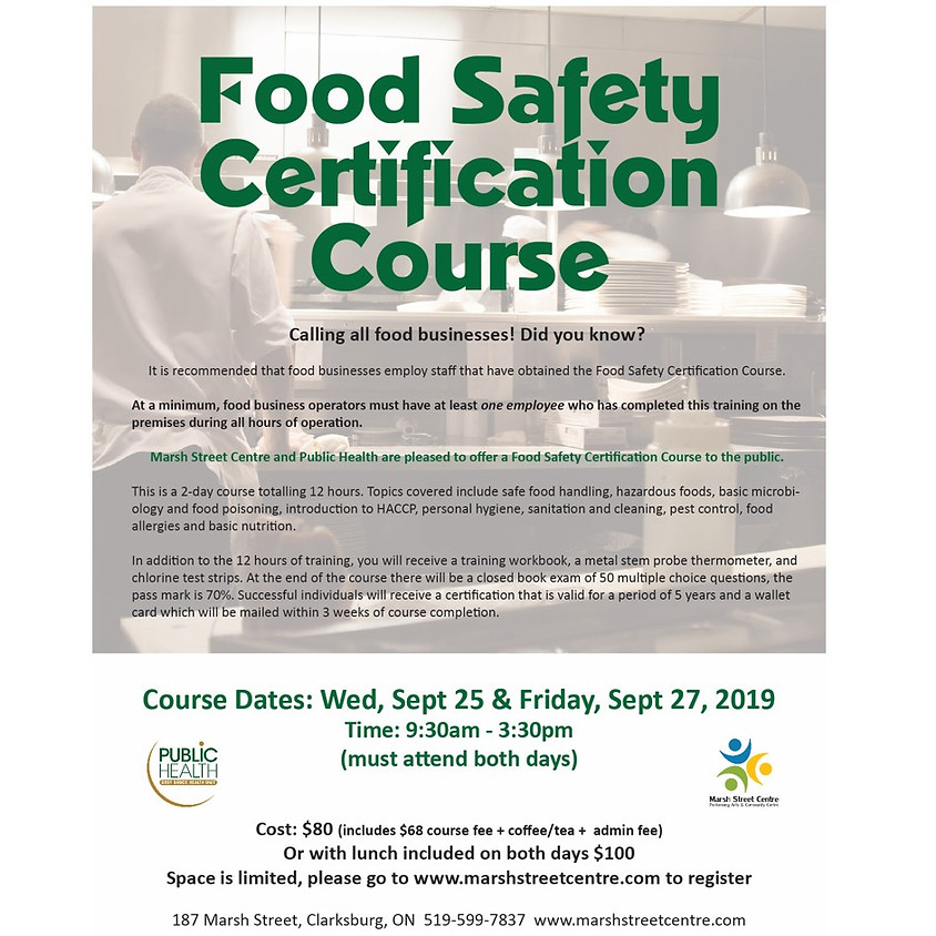 Food Safety Certification Course