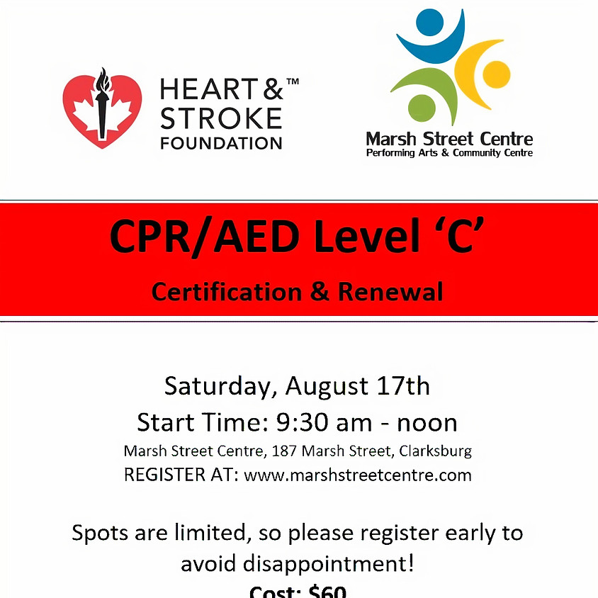 CPR/AED Level 'C' Certification & Renewal