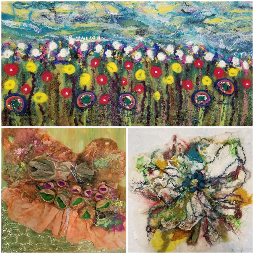 Workshop - Painting with Fibre - Felting with Wendy Fifield