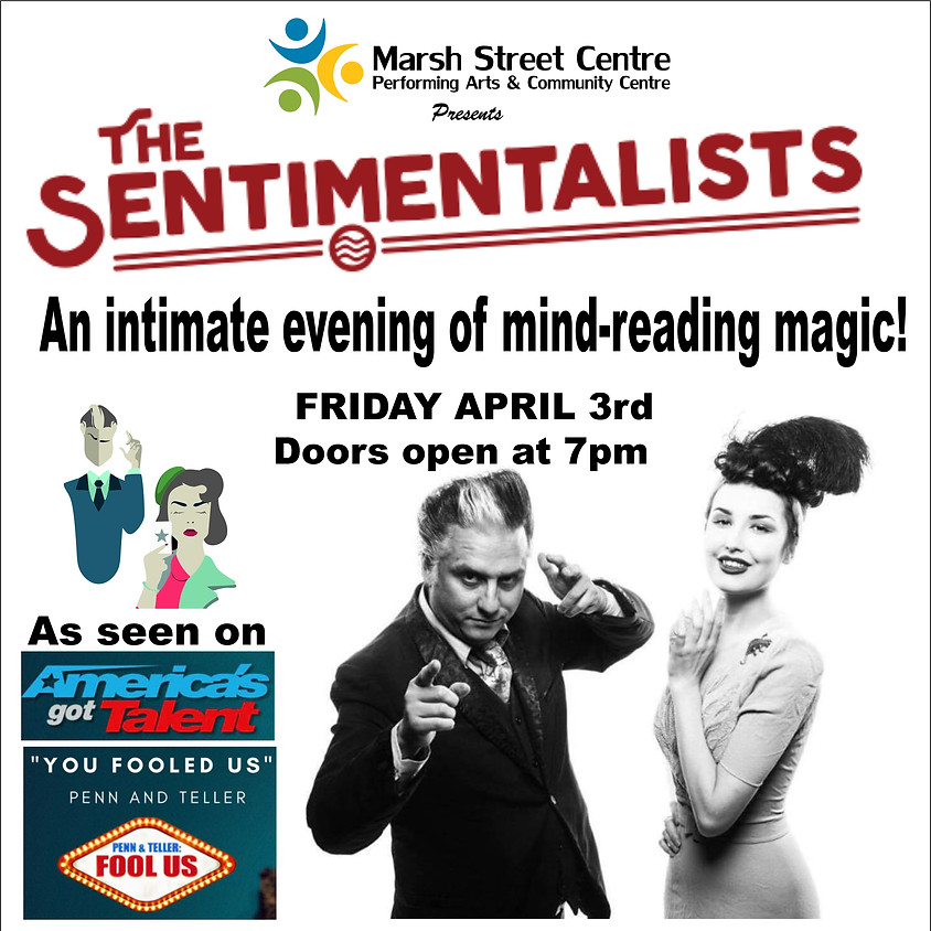Postponed - Magic: The Sentimentalists - An Intimate Evening of Mind-Reading Magic - POSTPONED DATE TBD (1)