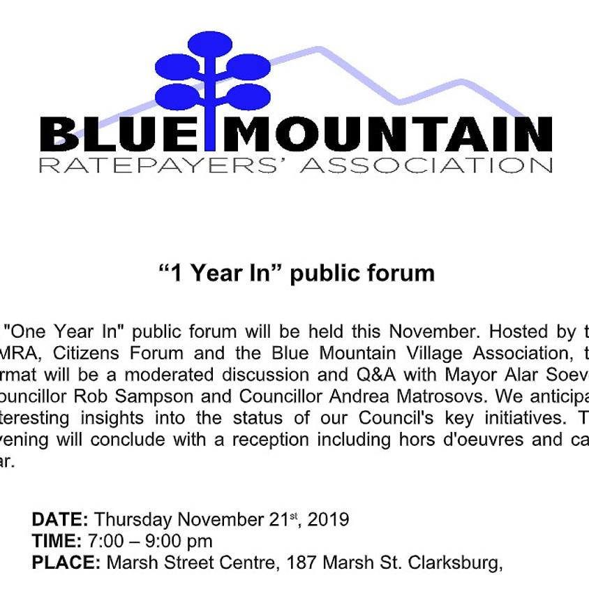 1 Year In Public Forum