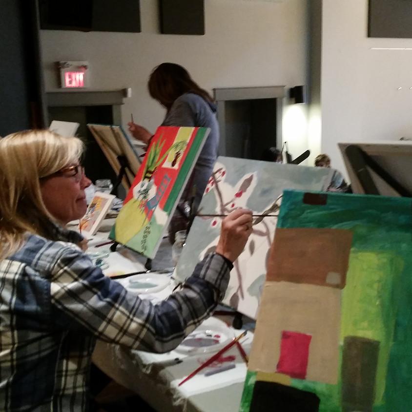 Clarksburg has h'ART - Paint Jam with Suzette Terry 2-4pm
