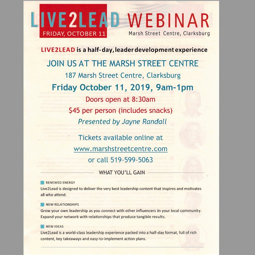 Live2Lead Webinar