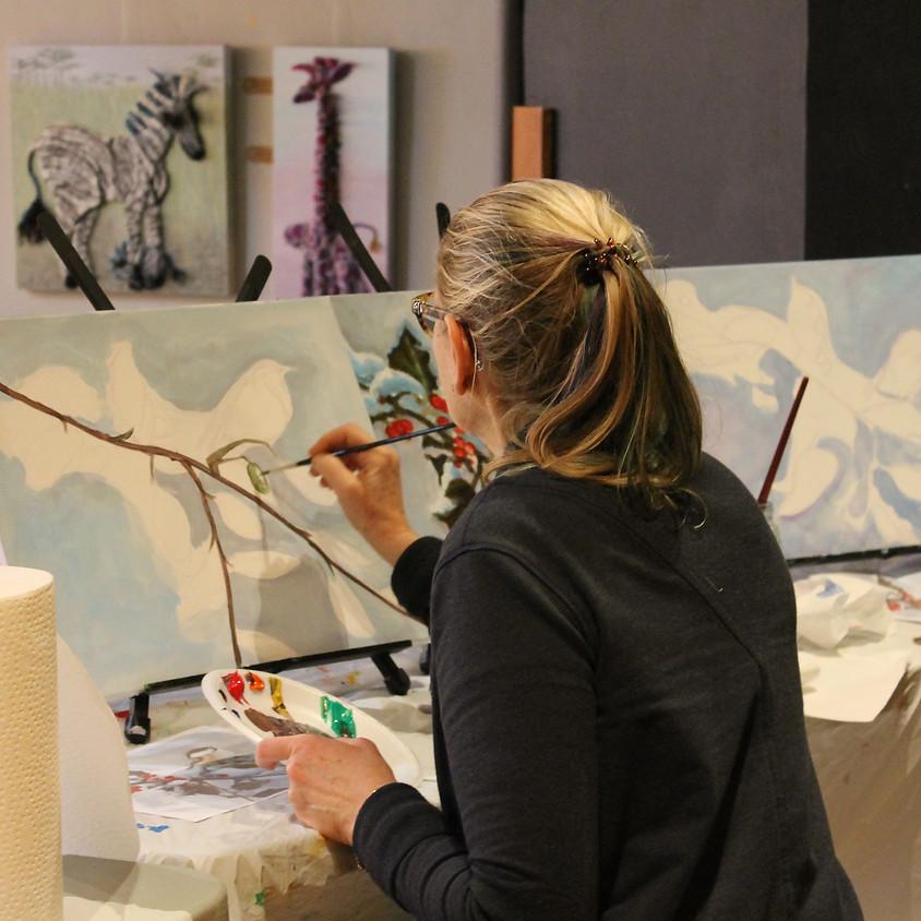 Clarksburg has h'ART - Paint Jam with Suzette Terry 11-1pm