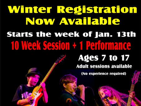 Marsh Street Rocks! - Winter 2020 Registrations