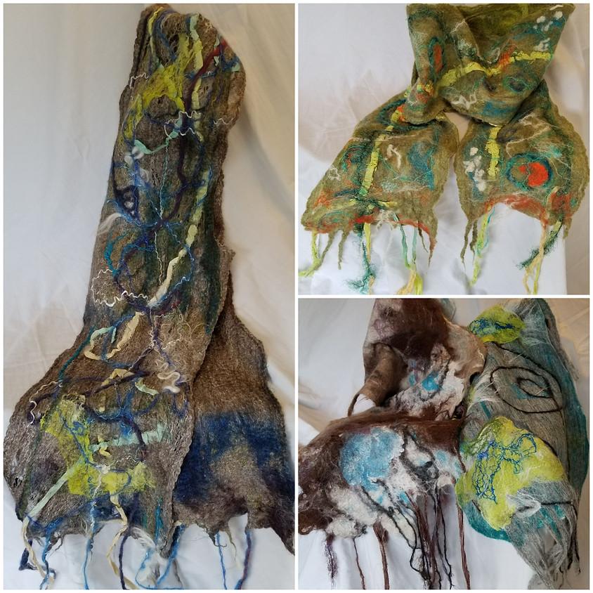 Workshop - Cobweb Cowl Scarf - Felting with Wendy Fifield
