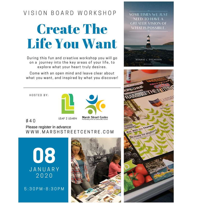 Workshop: Create a Vision Board - Create the Life You Want