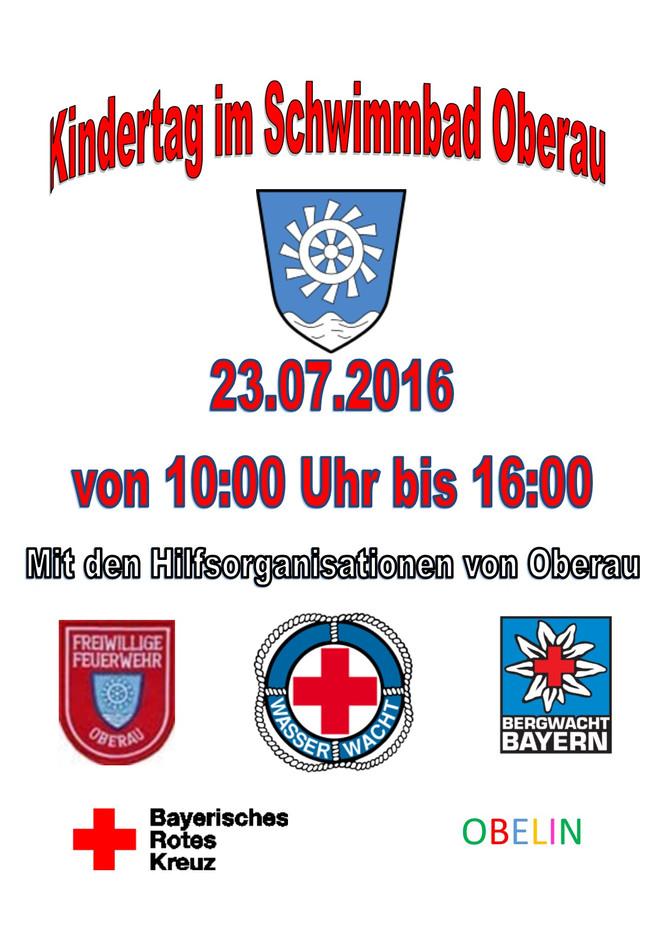 Kinderschwimmtag Im Schwimmbad Oberau 23.07.2016