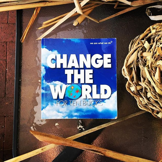 "This is my new project_""Change the world for ten bucks""_A couple of years ago I started another pers"
