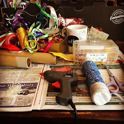Getting creative and making new shakers and sensory toys for our inclusive laughter yoga sessions