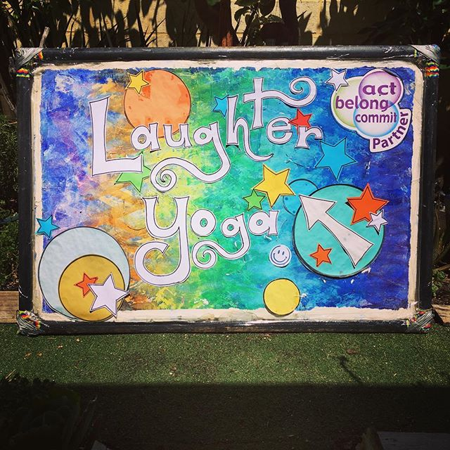 If you are looking for a sign to come to Free Laughter Yoga, THIS IS IT!!! Our little sign has gone