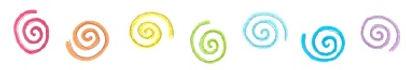 Creative E Rainbow Spirals