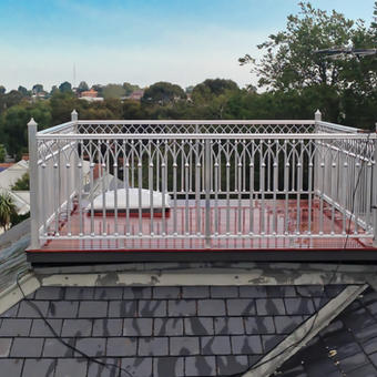 Balcony on top of the roof