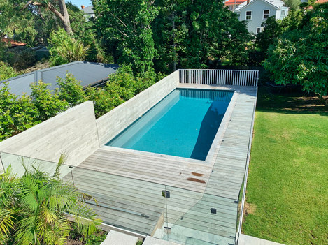 Pool with deck area