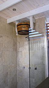 Sauna shower solution