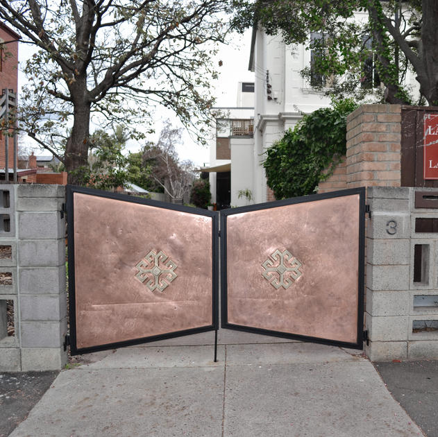 Coating on copper gate