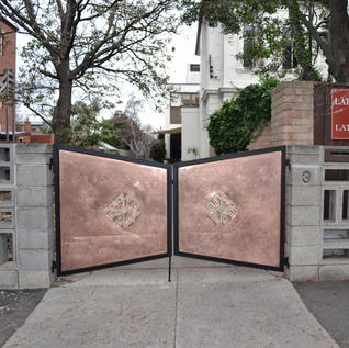 Coating on copper gate