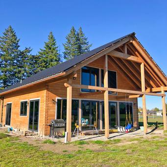 European log house
