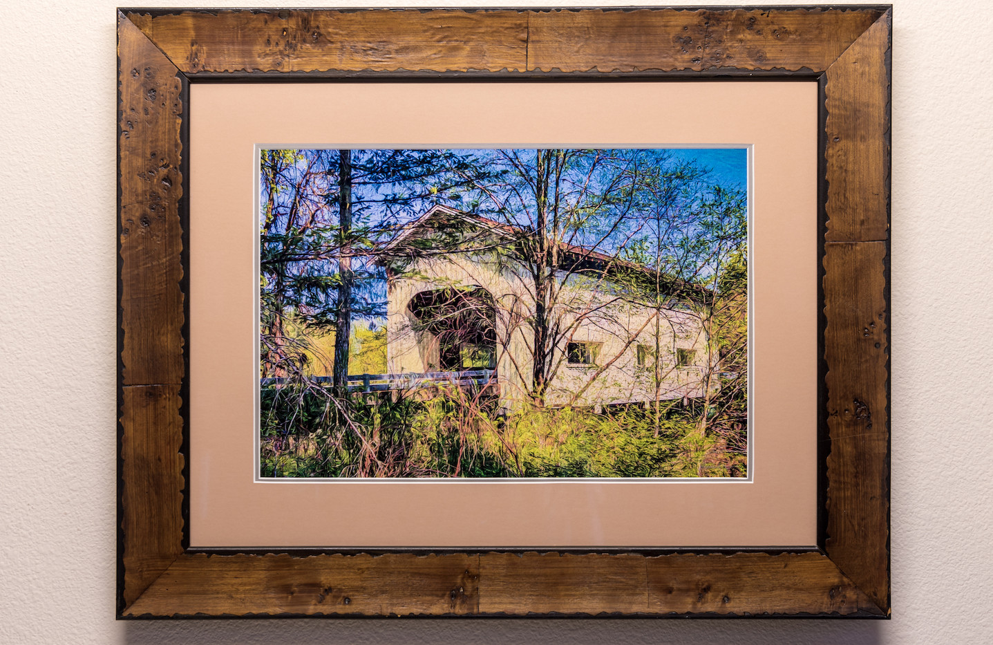 Country Bridge - Framed & Double Mat