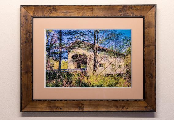Country Bridge - Framed & Double Mat