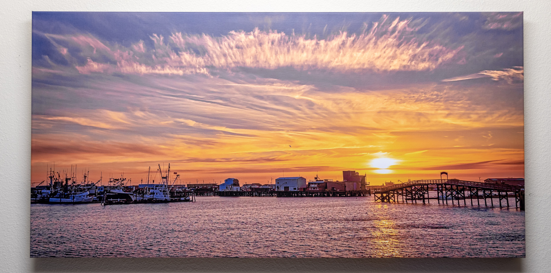 Westport Harbor Sunset - Custom Canvas