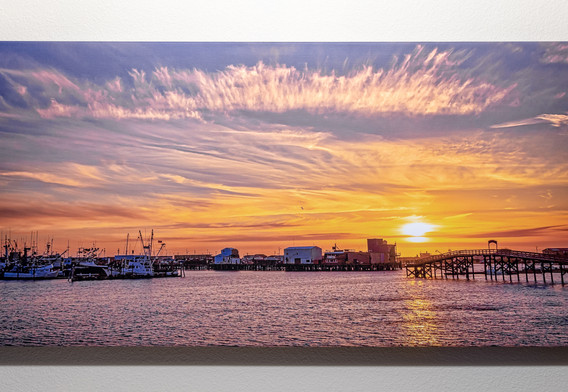 Westport Harbor Sunset - Custom Canvas