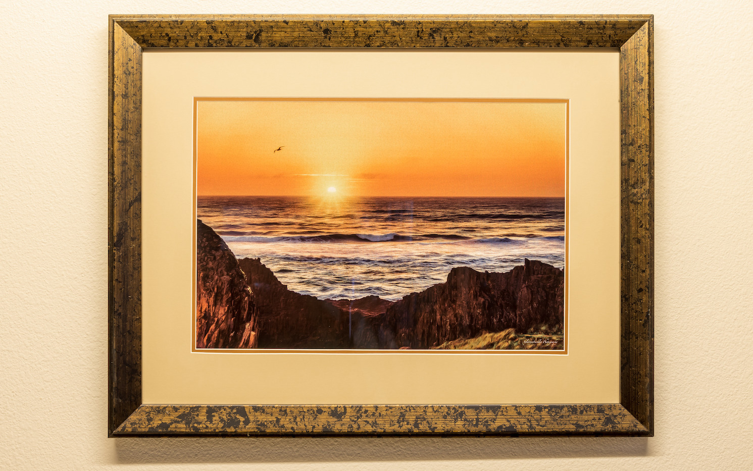 Seal Rock Sundown - Framed & Double Mat
