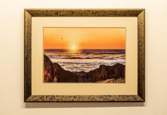 Seal Rock Sundown - Framed & Double Mat