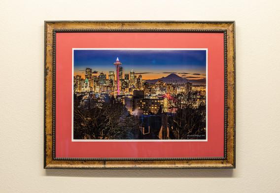 Pink Rises - Framed & Double Mat