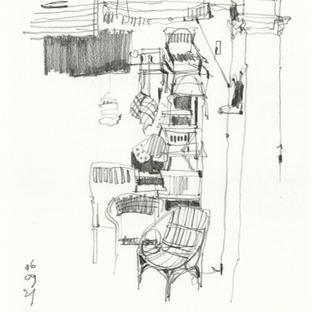 Teong Theng Rattan Shop in Pencil