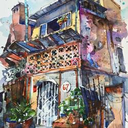 Back alley sketch at Kampong Glam