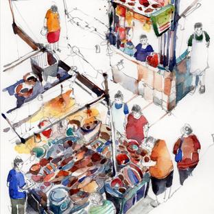 Fishmonger at Tekka Market