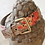 Thumbnail: Dog Collar in beige with flowers . Italian Design