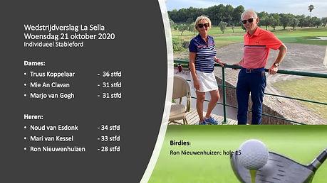 wedstrijdverslag La Sella 21 oktober 202