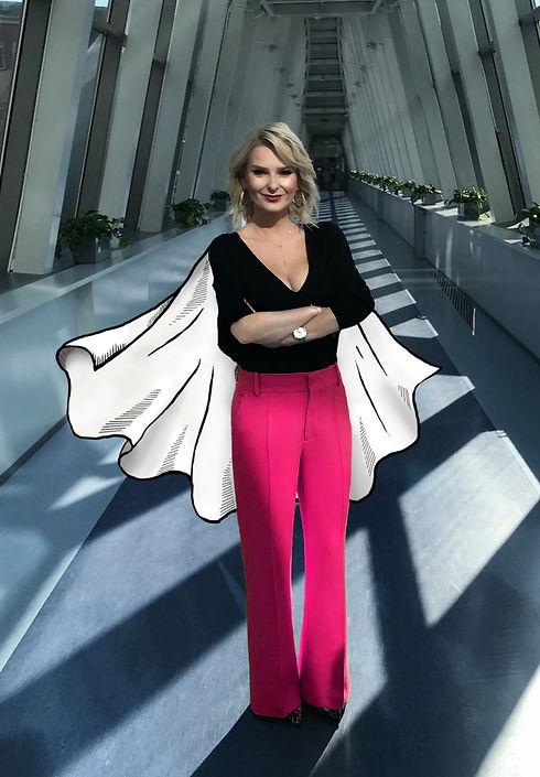 Izabela Sakutova - Zdjęcie z peleryną