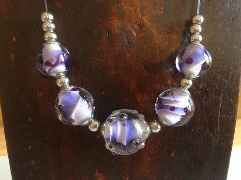 Collier, perles en verre