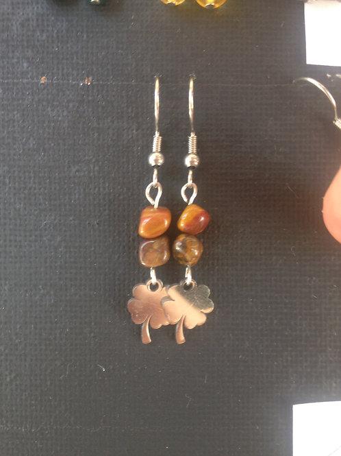 Boucles d'oreilles pierre et breloque