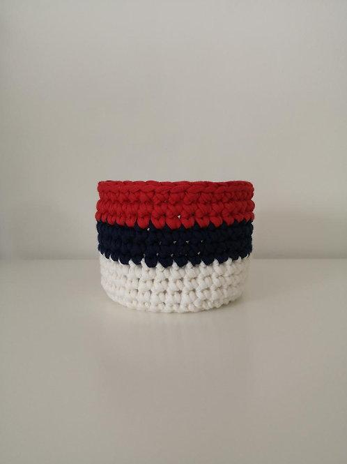 """Panière """"rouge/bleu/blanc"""""""