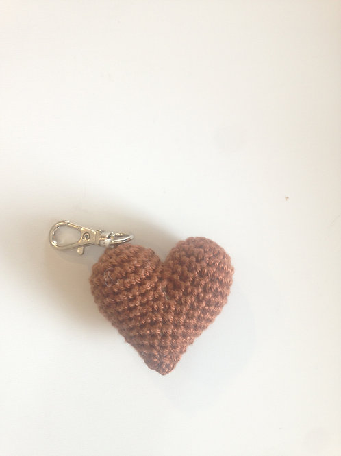 Porte-clés Coeur marron