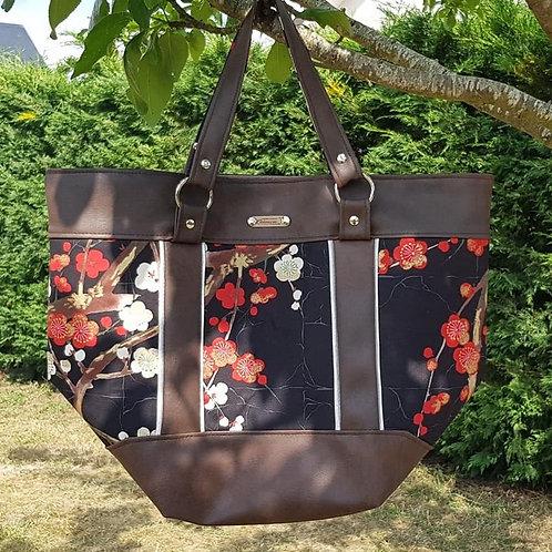 "sac à main ""fleurs cerisiers"""