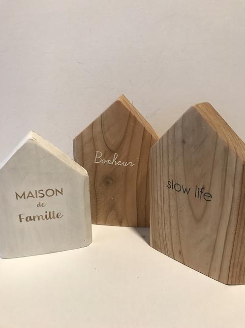 Maison bois / message